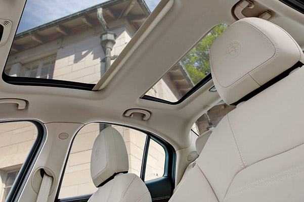 Interior of a 2020 Alfa Romeo with a sunroof