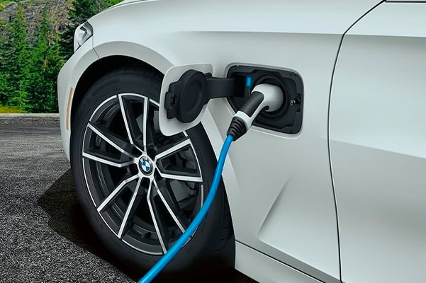 The 2021 BMW 330e plug-in hybrid charging