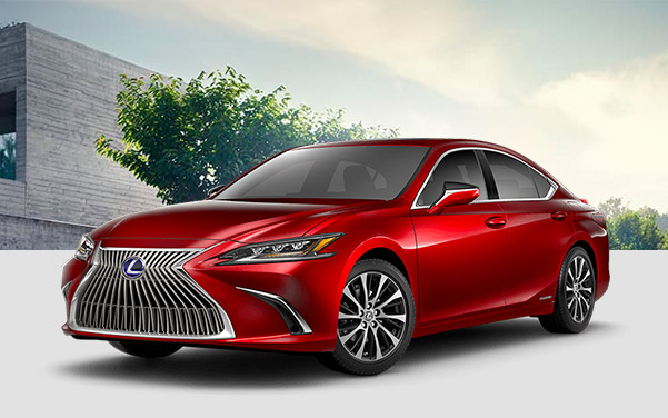profile shot of red Lexus Es sedan