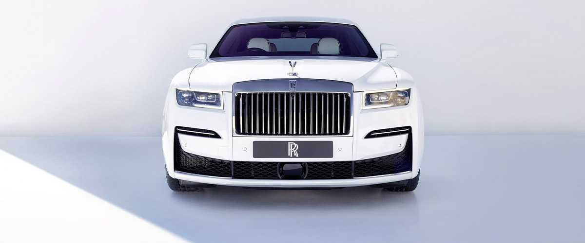 exterior frontal view of Rolls Royce Ghost