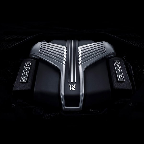 close up shot of Rolls Royce Ghost engine